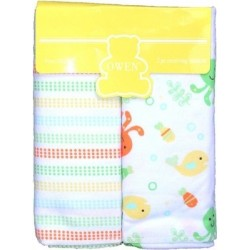 OWEN Baby Receiving Blankets, 2 Piece Set (YELLOW)