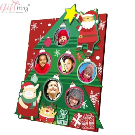 GIFTHING Dear Bunny Xmas Photo Frame - for newborn birth party gift toddler baby