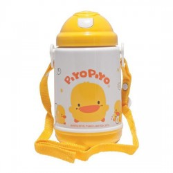 Piyo Piyo Thermos Bottle with Pop-Up Lid 420ml