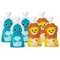 Squooshi Single Small Food Pouch - Bird/Lion
