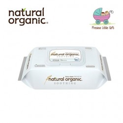 Natural Organic Baby Wipes - Soothing Premium Embossing Captype (70 Sheets)