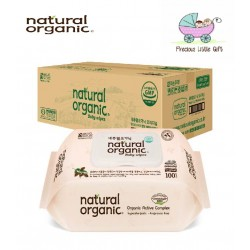 [Buy 9 Packs FREE 1 Pack] Natural Organic Baby Wipes - Original Embossing Captype 100 Sheets (10 Packs)
