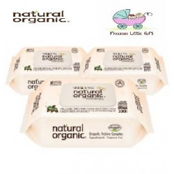 Natural Organic Baby Wipes - Original Embossing Captype 100 Sheets (3 Packs)