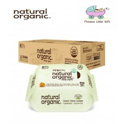 [Buy 18 Packs FREE 2 Packs] Natural Organic Baby Wipes - Original Plain Travel Pack 30 Sheets (20 Packs)