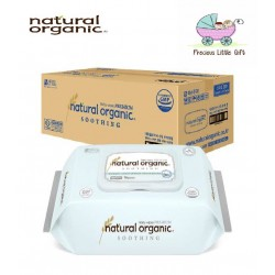 Natural Organic Baby Wipes - Soothing Premium Embossing Captype 70 Sheets