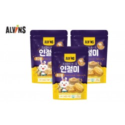 "ALVINS Korean Rice Snack ""Injeolmi""  (Soybean Powder) x 3 Pkt"