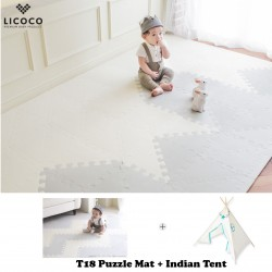 GGUMBI Licoco Smart Puzzle Playroom Mat + Indian Tent