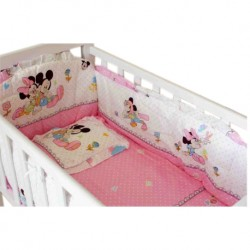 Royalcot Baby Cradle Pink Mickey Bedding Set (49x89cm)