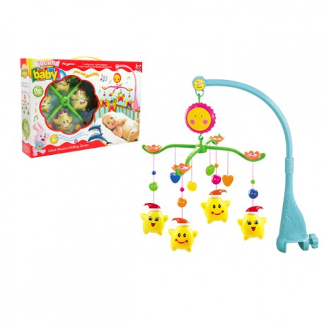 Royalcot Baby Cot Musical Mobile Baby Toys (Yellow Star)