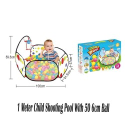 Royalcot 1 meter Children Shooting Pool With 50pcs 6cm Ball