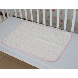 Royalcot Waterproof Cotton Mattress Protector Mat - Pink