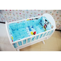 Royalcot Baby Cradle Mickey Mouse Bedding Set (49 x 89cm)