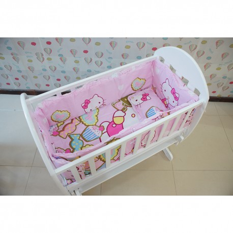 Royalcot Baby Cradle Hello Kitty Bedding Set (49x89cm)
