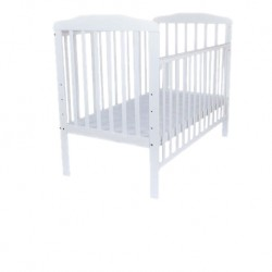 Royalcot R8310 White Large Baby Cot Bed Wooden (White) FREE 100% Natural Coconut Mattress