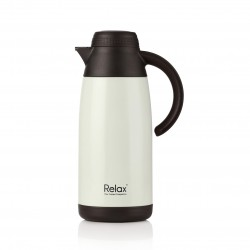 Relax Bottles 1100ml Stainless Steel Thermal Carafe (Pearl White)