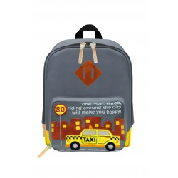 Nick & Nic Foldable Backpack Ash Grey- New York Taxi