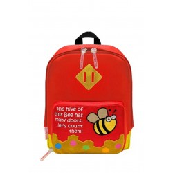 Nick & Nic Foldable Backpack - Bee Rose Red