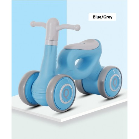 Long Dragon Q Mini Balance Bike Walker for Toddler from 1 to 3 Year old FREE 6 Months Warranty (Blue/Grey)