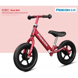 Flying Pigeon AL1209 Balance Bike for Children from 2 to 6 FREE Helmet and Protection Guards (Red)
