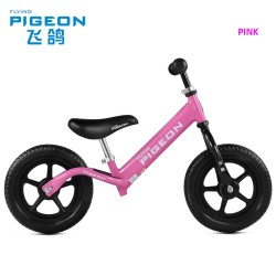 Flying Pigeon AL1208 Balance Bike for Children from 2 to 6 FREE Helmet and Protection Guards (Pink)