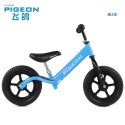 Flying Pigeon AL1208 Balance Bike for Children from 2 to 6 FREE Helmet and Protection Guards (Blue)