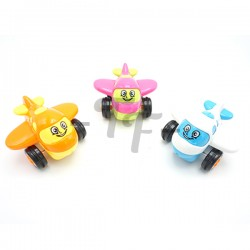 Cute Flapping Wing Cartoon Plane - Assorted Colors - 3 pcs