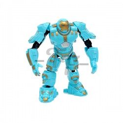 Warrior Transform Building Blocks Action Figure - Blue