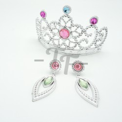 Princess Dress Up Accessories Jewelry Set With Tiara Crown