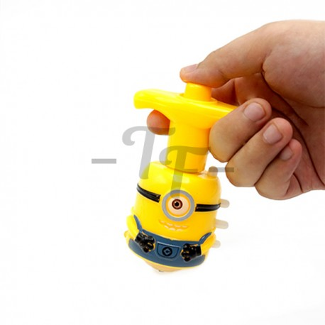 Toys Funtastic Little Yellow Man Flashing Light And Sound Spinning Top