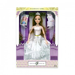 Toys Funtastic 11 Wedding Doll Dress Up Gown Gift Set - White