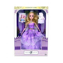 "Toys Funtastic 11"" Wedding Doll Dress Up Gown Gift Set - Purple"