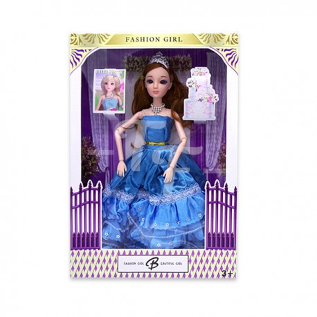 """Toys Funtastic 11"""" Wedding Doll Dress Up Gown Gift Set - Blue"""