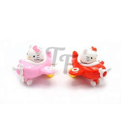 Toys Funtastic Kitty Cat Friction Little Plane - Red