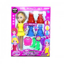 Toys Funtastic Girl Beauty Fashion Plastic Dress Up Set