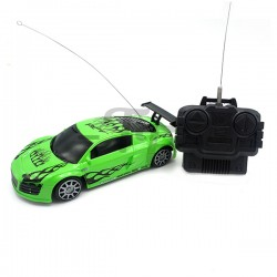 Toys Funtastic Mini Four-Way Rc(Remote Control) Audi Sport Car-Green