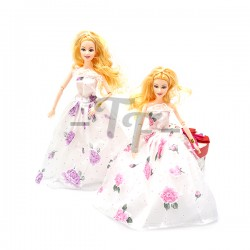 "Toys Funtastic - 11"" Beautiful White Color Rose Dress Up Doll Gift Set - Model A"