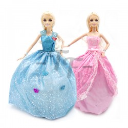 "Toys Funtastic 12"" Birthday Doll Dress Up Gown Gift Set - Blue (New)"