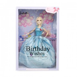 "Toys Funtastic 12"" Birthday Doll Dress Up Gown Gift Set - Blue"