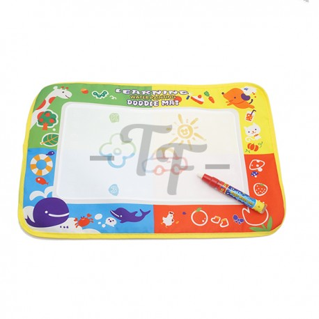 Toys Funtastic 45 X 29Cm Educational Learning Writing/Drawing Water Doodle Mat + Magic Water Pen