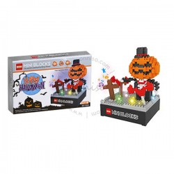 Toys Funtastic DIY Nano Blocks With Light & Music, Pumpkins, Halloween Series (337 pcs)
