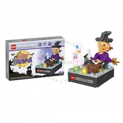 Toys Funtastic  DIY Nano Blocks With Light & Music, Witch, Halloween Series (325 pcs)
