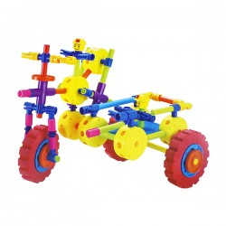 Toys Funtastic Innovative 3D Trishaw Building Block Set Educational Toy (91 pcs)