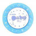 """Onniso 9"""" Bright Colour Little Boy  and  Girl Party Dinner Paper Plate-Blue (50pcs)"""