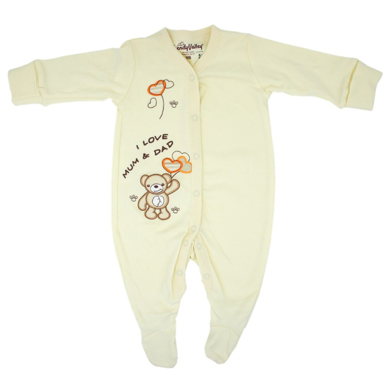 a83fbd98 Trendyvalley Organic Cotton Baby One Piece Suit Romper With Covered Glove  And Socks (I Love. Loading zoom