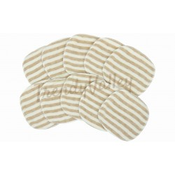 Trendyvalley Organic Cotton Washable Breastpad 12 Pcs