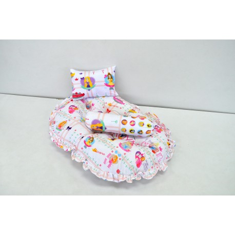 Disney Car Mattress(Round) 1 Pillow N 1 Bolster