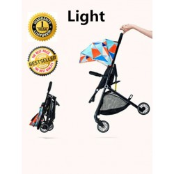 BBH N1 Light Weight Compact Foldable Stroller for New Born Baby with Free Toy / Free Installation (Orange)