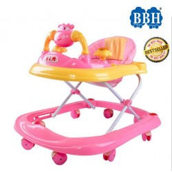 BBH Wide Round Bottom Baby Walker (Pink)