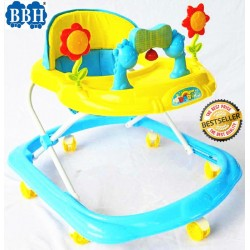 BBH Baby Walker 353 Promotion with Music / Light (Yellow)