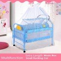 BBH 218 Multifunction with 2 Baby Cot Small and Big + Free Mosquito Net